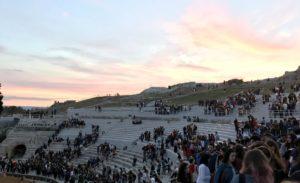 teatro greco siracusa tramonto