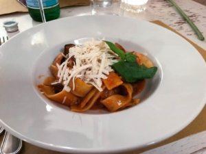 Pasta alla Norma ristorante Dammuso