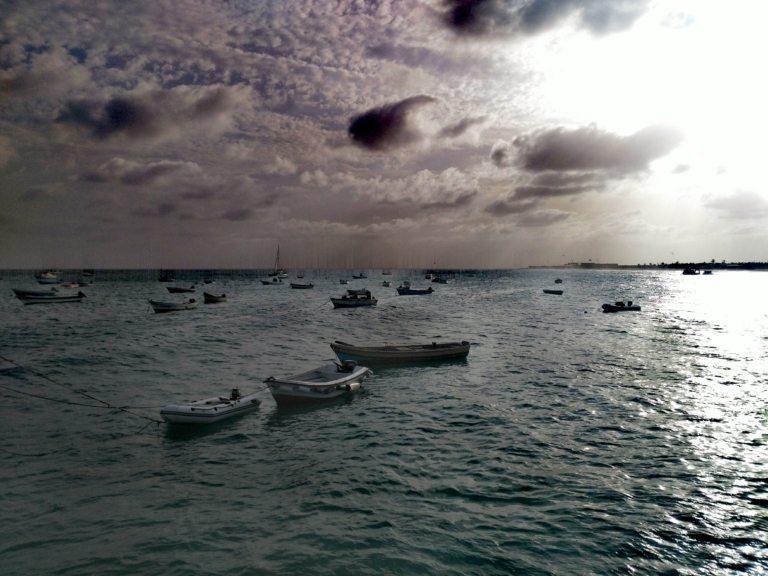 barche nel mare capo verde