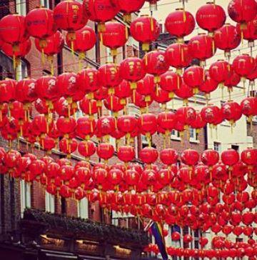 lanterne rosse cinesi a Soho