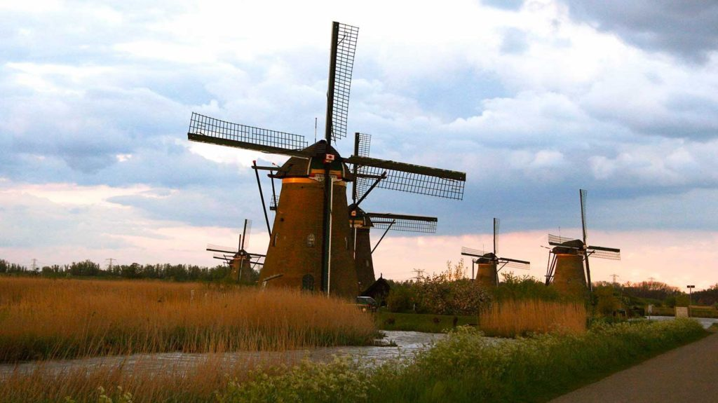 mulini a vento olandesi kinderdijk