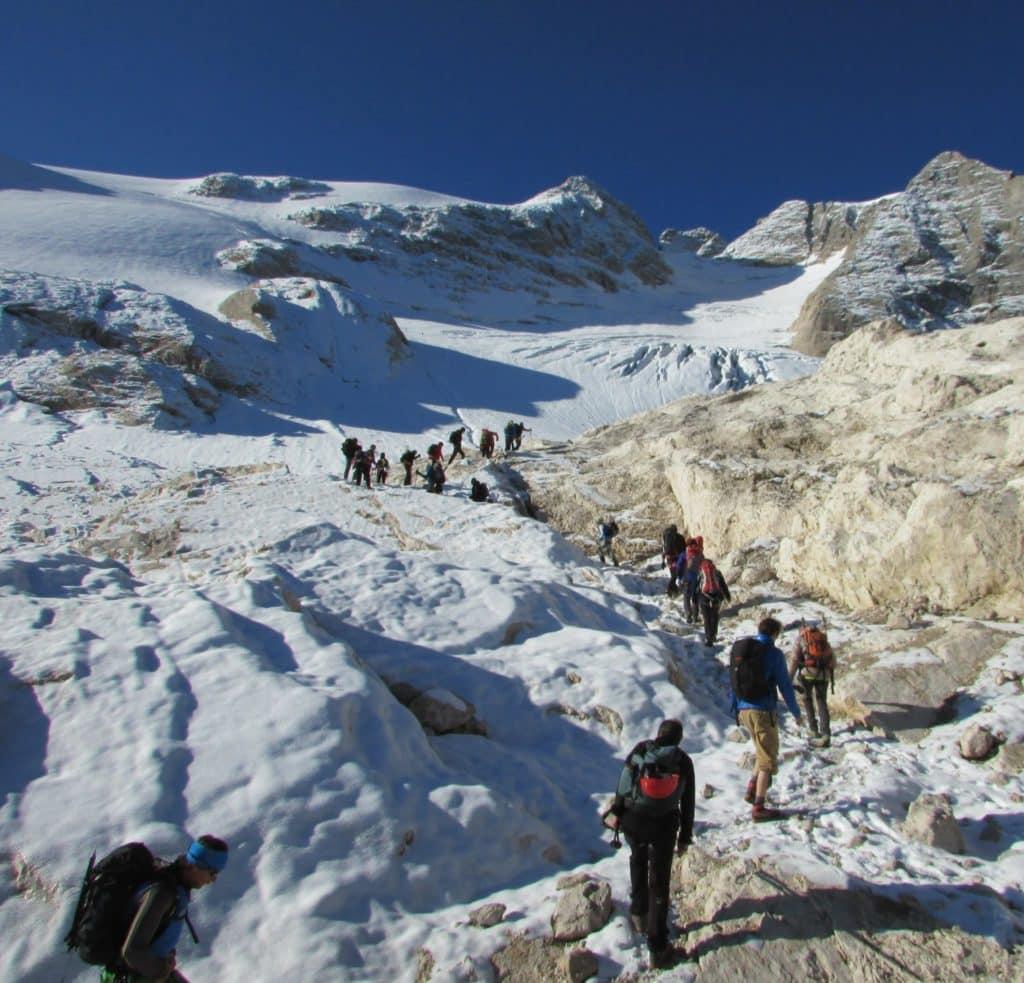 Marmolada- ghiacciaio inizio