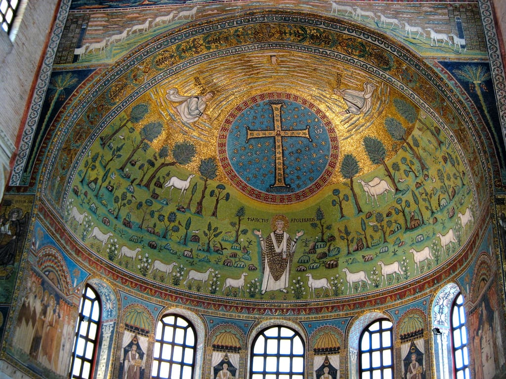 Mosaics of the apse of Sant'Apollinare in Classe