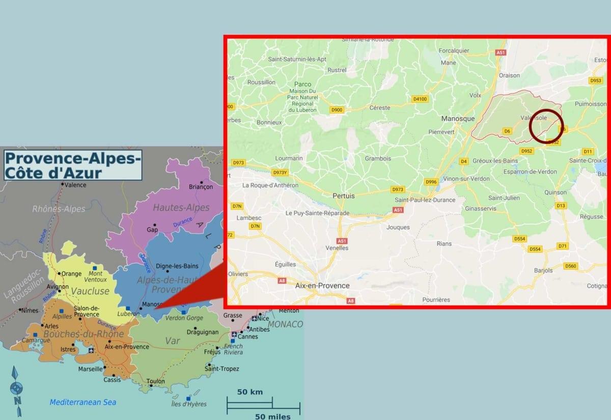 provenza mappa valensole