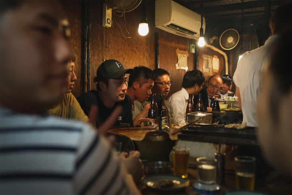 Giappone - cena tra amici