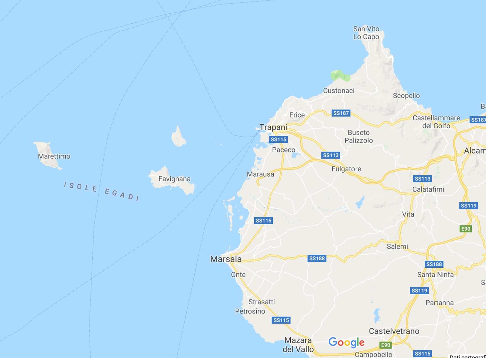 Egadi Mappa
