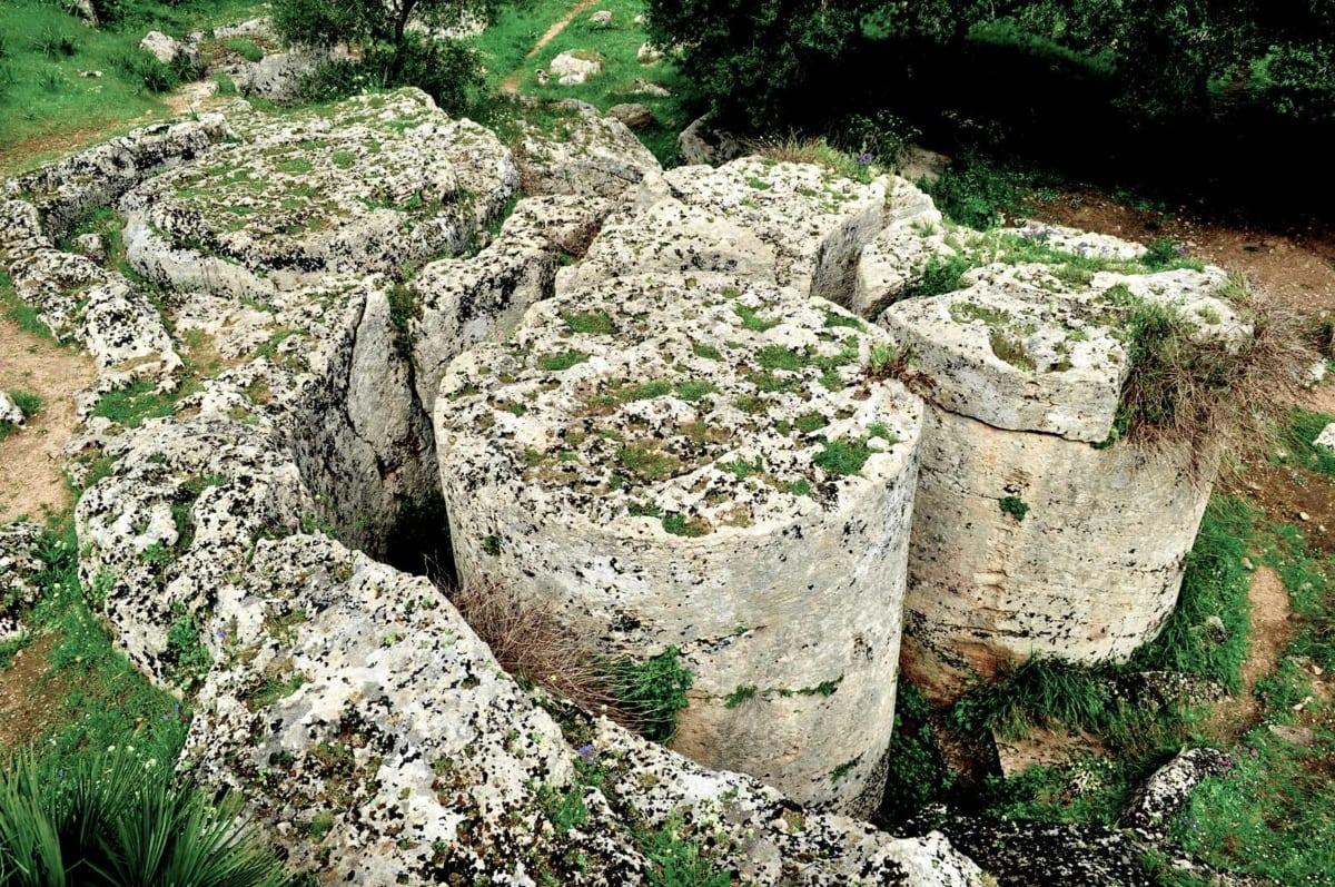 cave di cusa estrazione colonne
