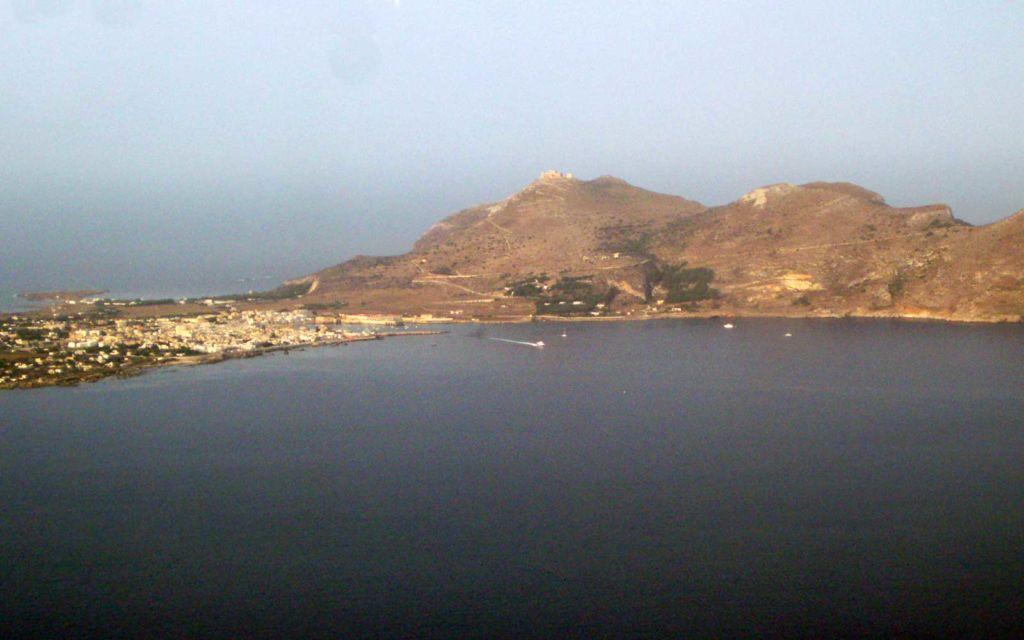 isola di favignana vista aerea