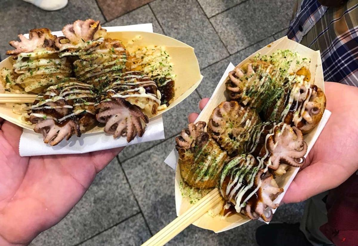 Takoyaki con polipetti Hiroshima