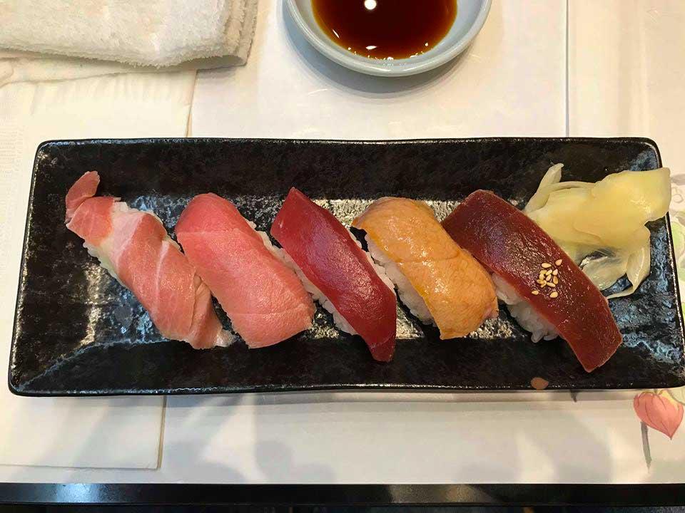 sushi selezione di tonno