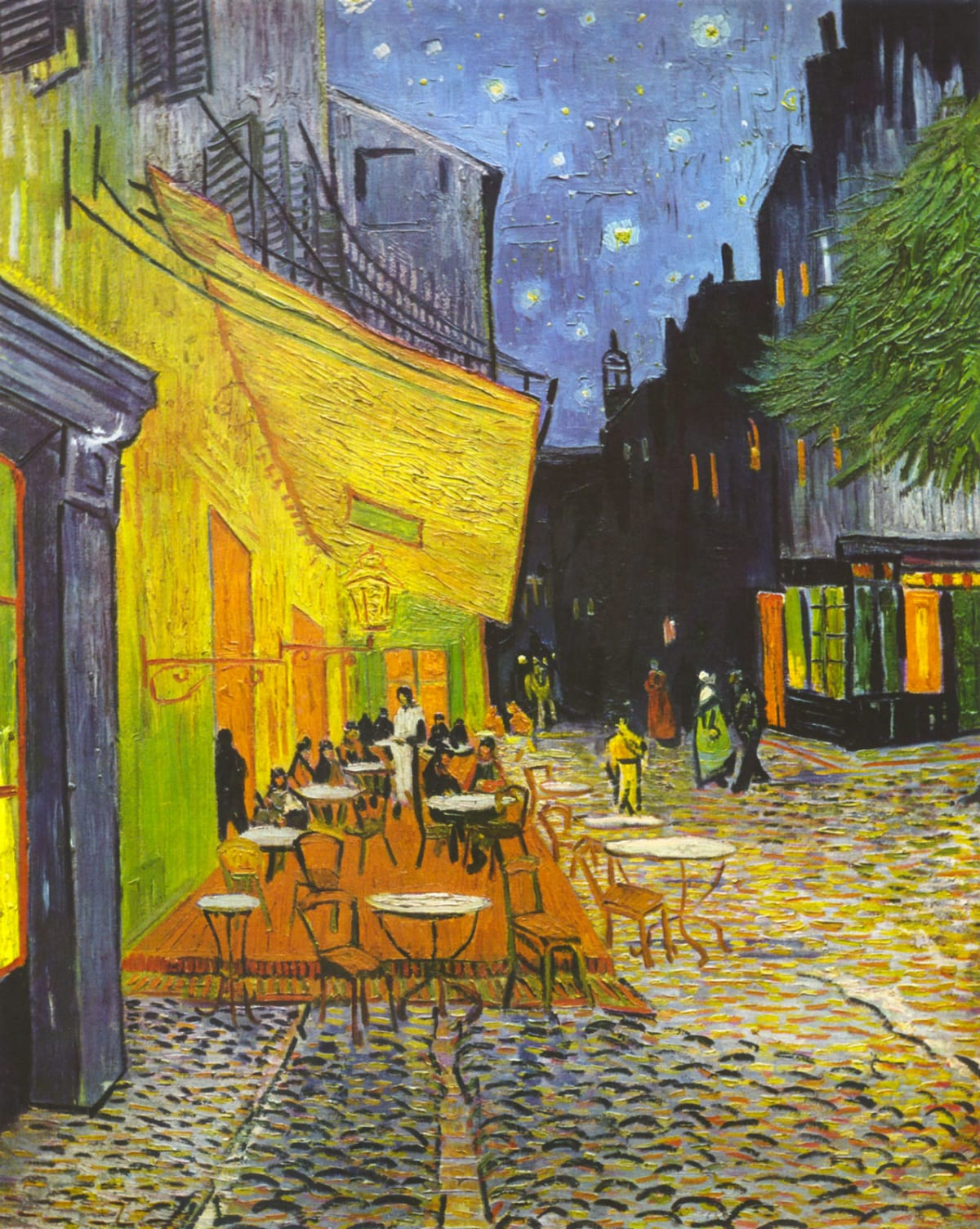 Caffé la nuit Arles van Gogh painting