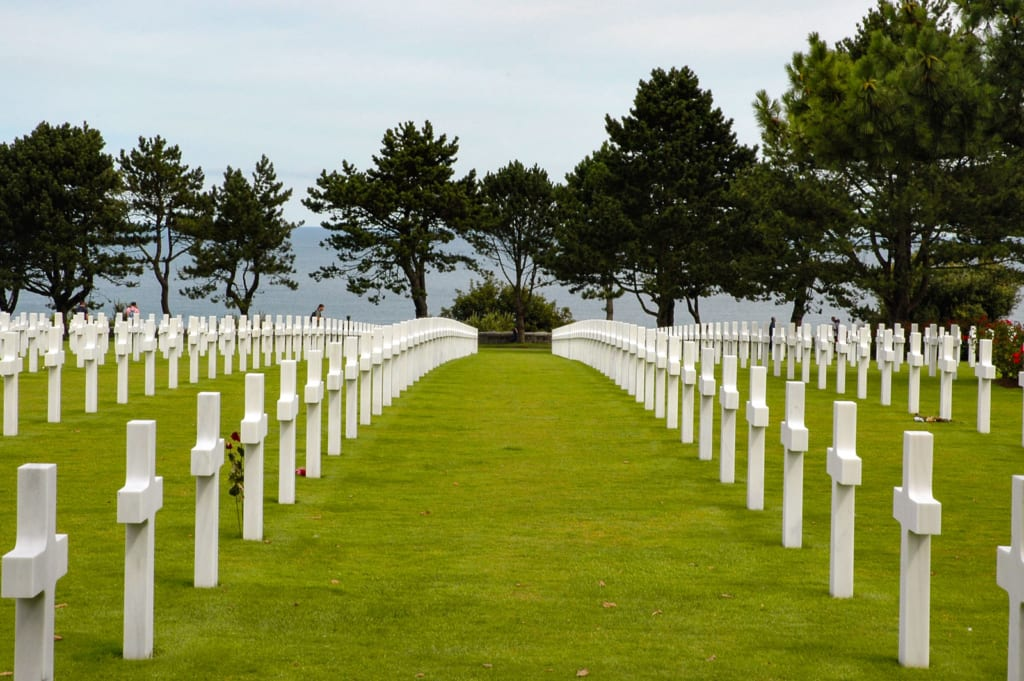 White crosses omaha beach