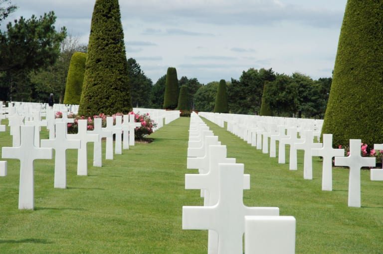 Spiagge dello sbarco in Normandia cimitero Omaha Beach