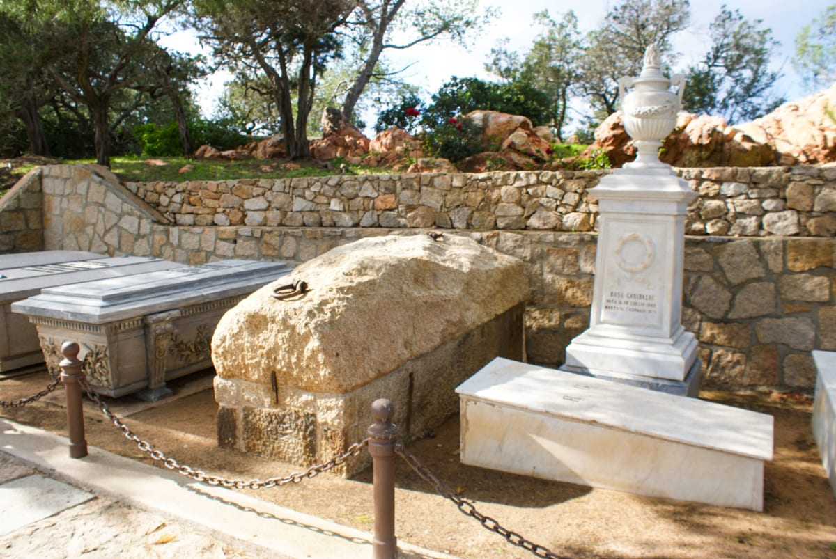 Tomb of garibaldi in Caprera