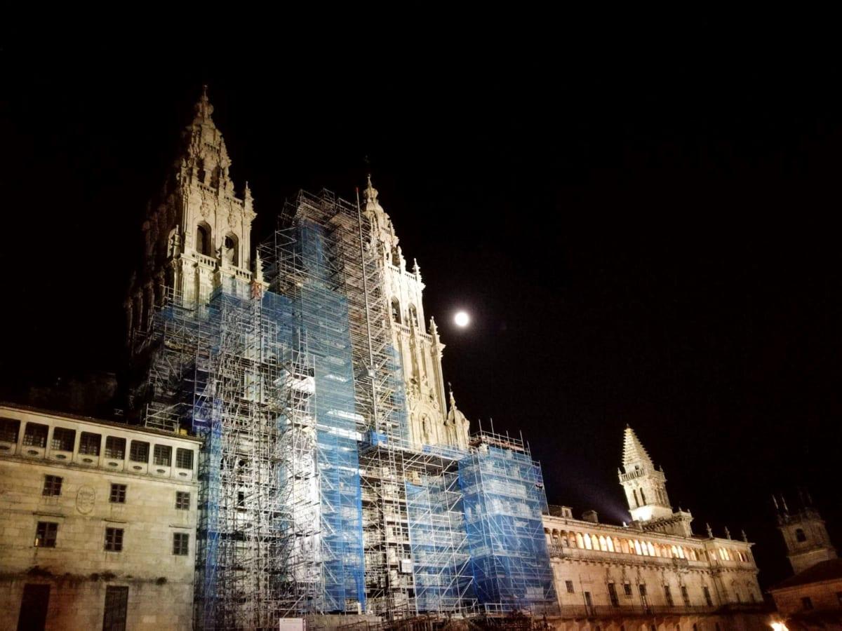 la Cattedrale di Santiago notte