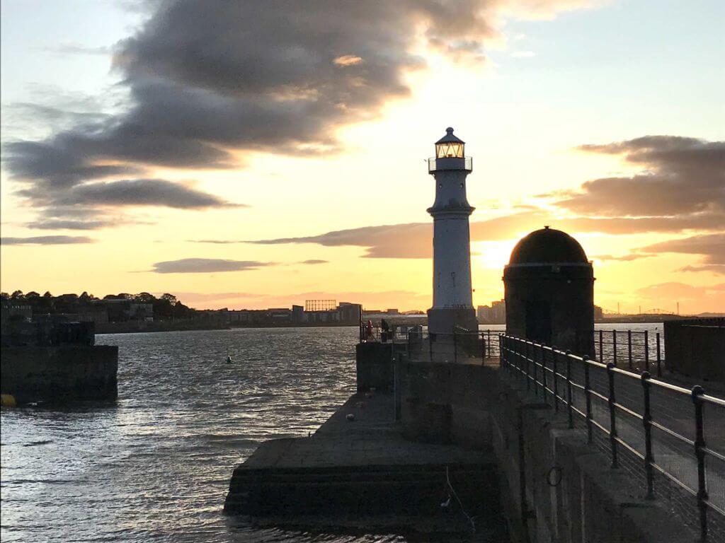 Leith al tramonto