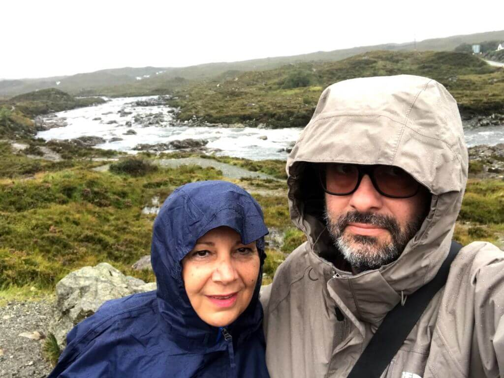 Skye sotto la pioggia
