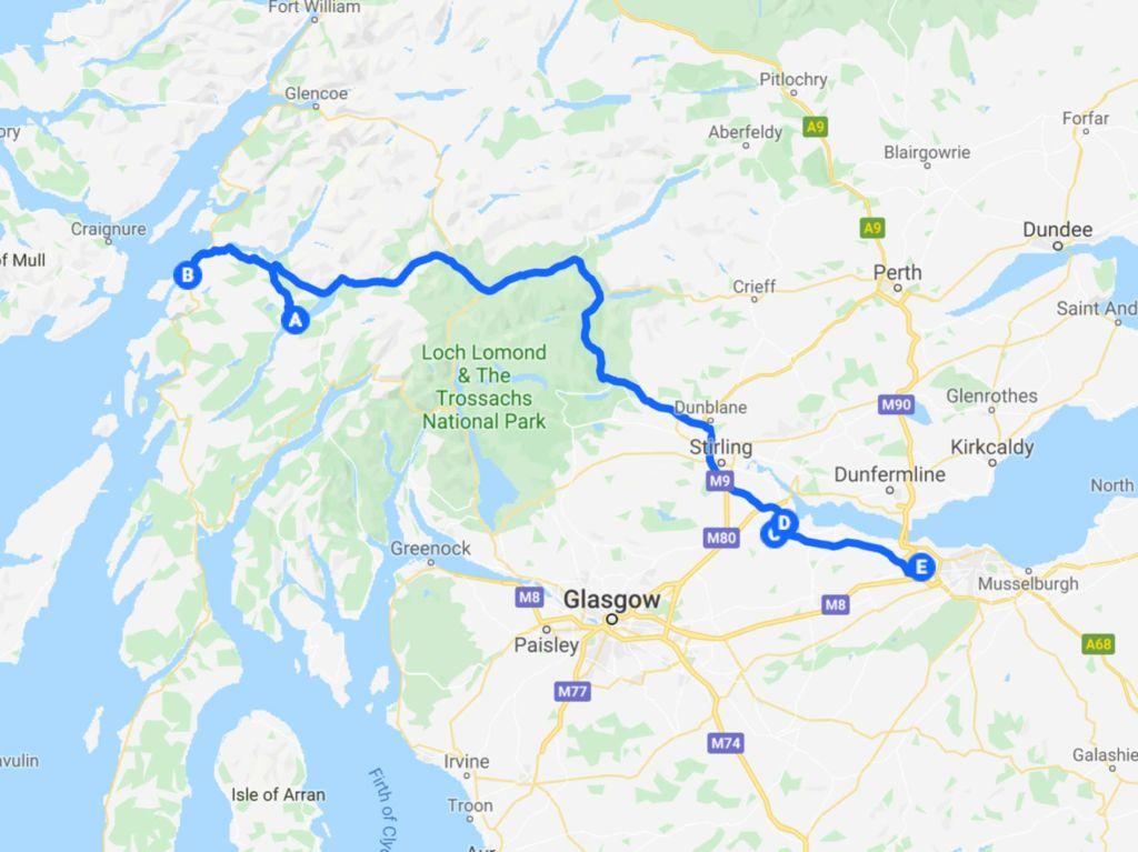 Tour Scozia in auto - ultimo giorno