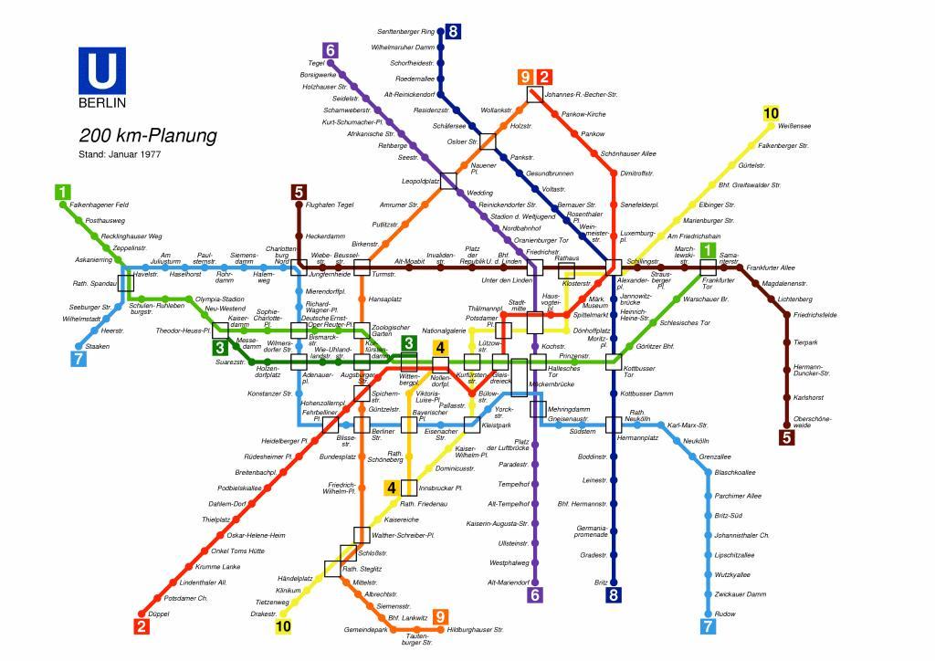 metropolitana di Berlino mappa